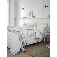 Joules Harbour Floral Stripe 180 Thread Count Cotton Percale Duvet Cover