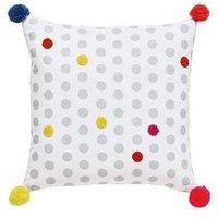 Joules Harbour Floral Stripe 100% Cotton Canvas Cushion