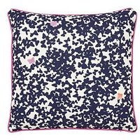 Joules Painted Poppy 100% Cotton 180 Thread Count Cushion