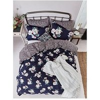 Joules Painted Poppy 100% Cotton Sateen Bedspread Throw