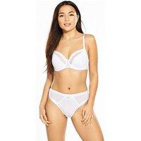Pour Moi Viva Luxe Underwired Bra, White, Size 34Ff, Women
