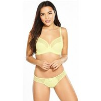 Pour Moi Electra Side Support Wired Bra, Yellow, Size 36D, Women