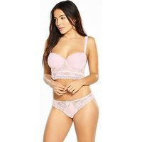Pour Moi Pour Moi Rebel Underwired Strapless Longline Bra, Soft Pink, Size 36F, Women