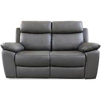 New Edison 2 Seater Luxury Faux Leather Manual Recliner Sofa
