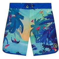 Boys, Baker by Ted Baker Jungle Swimshorts, Blue, Size Age: 8-9 Years