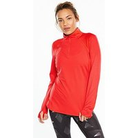 THE NORTH FACE Mountain Athletics Motivation 1/4 Zip Long Sleeve Shirt - Red, Red, Size S, Women