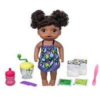 Baby Alive Sweet Spoonfuls Baby Doll Girl Black Curly Hair, One Colour