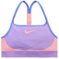 Nike Older Girls Seamless Bra - Blue , Blue, Size Xs=6-8 Years, Women