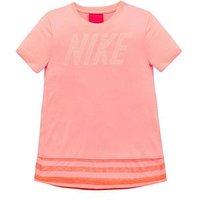Nike Older Girls Short Sleeve Dry Top, Pink, Size Xs=6-8 Years, Women