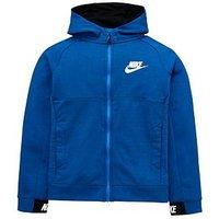 Nike Older Boys NSW Hoodie - Blue , Blue, Size M=10-12 Years, Women