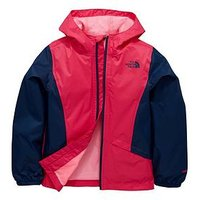 THE NORTH FACE Girls Zipline Rain Jacket, Pink/Blue, Size S=7-8 Years, Women