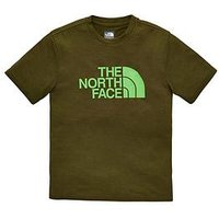 THE NORTH FACE Boys Reaxion Tee, Olive, Size M=10-12 Years