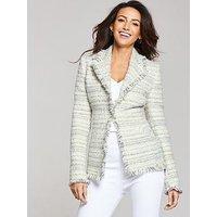 Michelle Keegan Boucle Jacket, Multi, Size 8, Women