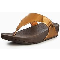 FitFlop LuLu Toe Thong Sandal - Bronze, Bronze, Size 4, Women
