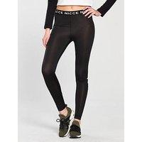 NICCE Ladies Original Logo Leggings, Black, Size L, Women