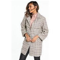 Lost Ink Bright Weave Waisted Coat, Multi, Size 16, Women