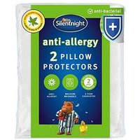 Product photograph showing Silentnight Anti Allergy Anti Bacterial Pillow Protectors Pair