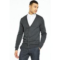 Selected Homme Selected Homme Tower Cotton Silk Cardigan, Grey Marl, Size Xl, Men