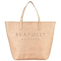 SEAFOLLY Carried Away Beach Tote Bag, Rose Gold, Women