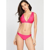 V by Very Drape Bikini Set - Pink, Pink, Size 16, Women