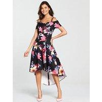 V By Very Bardot Prom Midi Dress - Floral Print
