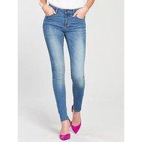 Vila Commit Slim Jeans, Denim, Size 14=Xl, Inside Leg Regular, Women