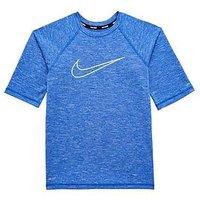 Boys, Nike Nike Older Boy Half Sleeve Swoosh Hydroguard Top, Royal, Size S=8-9 Years