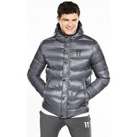 11 Degrees Strike Padded Coat, Charcoal, Size S, Men