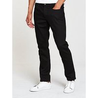 V by Very Slim Fit Denim Jeans, Black, Size 40, Inside Leg Short, Men