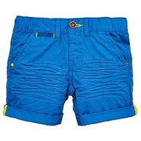 Mini V by Very Boys Fashion Roll Up Short, Blue, Size Age: 6-9 Months