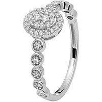 Love DIAMOND Love Diamond 9CT WHITE GOLD 20 POINT DIAMOND RING, One Colour, Size R, Women