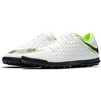 Nike Mens HypervenomX Phantom 3 Astro Turf Football Boot - White/Volt , White, Size 6, Men