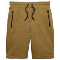 Boys, V by Very Khaki Tech Jog Short, Khaki, Size Age: 13 Years