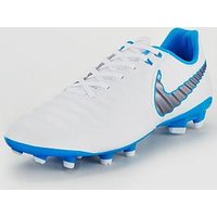 Nike Mens Tiempo Legend Academy Firm-Ground Football Boot - Just Do It , White, Size 12, Men