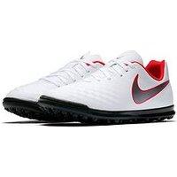 Nike Junior MagistaX Obra 2 Club Astro Turf Football Boot - White , White, Size 2