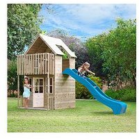 Tp Skye Wooden Playhouse &Amp; Slide