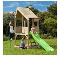 Tp Chalet Wooden Playhouse &Amp; Slide