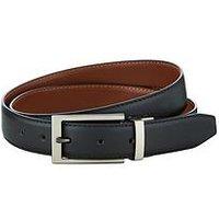 V by Very Mens V By Very Reversible Belt, Black/Tan, Size 42-44, Men