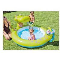 Intex 57444 Dinosaur Play Center Paddling Inflatable Pool With Sprinkler 2
