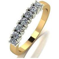 Love DIAMOND Love Diamond 9ct gold claw set 50 point diamond eternity ring, Gold, Size K, Women