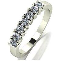 Love DIAMOND Love Diamond 9ct gold claw set 50 point diamond eternity ring, White Gold, Size P, Women