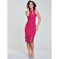 Myleene Klass Lace Panel Pencil Dress - Pink