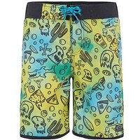 Animal Boys All Over Print Boardshort, Multi Print, Size Age: 13-14 Years
