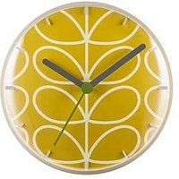 Product photograph showing Orla Kiely Linear Stem Dandelion Wall Clock