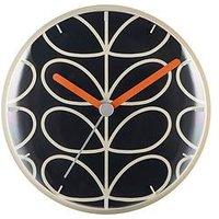 Product photograph showing Orla Kiely Linear Stem Slate Wall Clock