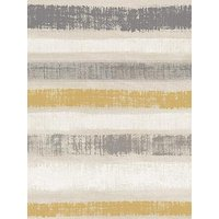 Product photograph showing Arthouse Painted Stripe Wallpaper - Grey Amp Ochre