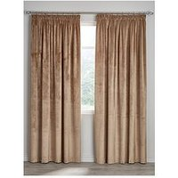 Soft Velour Lined Pleated Curtains