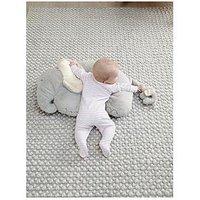 Mamas & Papas Elephant & Baby Tummy Time Snugglerug, One Colour