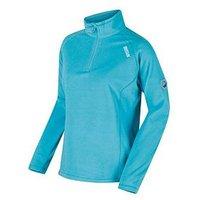 Regatta Montes 1/4 Zip Microfibre Top, Aqua, Size 14, Women
