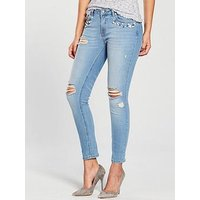 V by Very Kayden Pearl Pocket Jean, Mid Wash, Size 16, Women